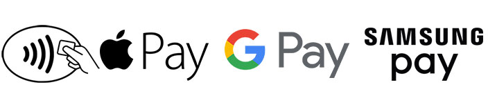 Pay without a credit card by using mobile pay apps such as Apple Pay Google Pay and Samsung Pay image