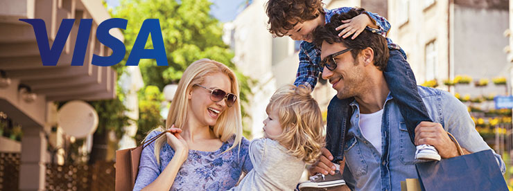 VISA SECNY Family out shopping header image